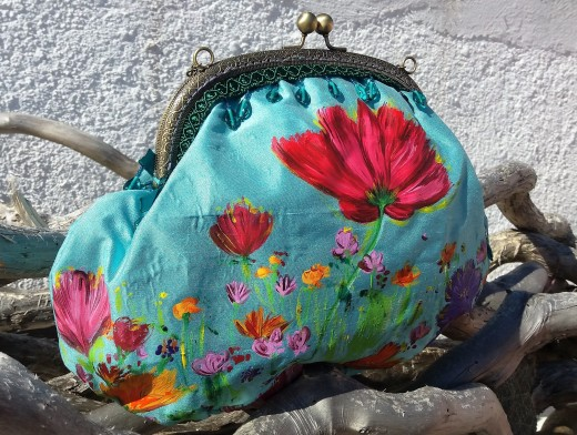 Unique Handbags. Handpainted Collection