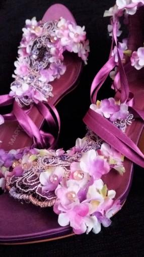 AFTER. Violet Flower Power