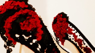 Vooss Atelier: Black and Red Tears. Shoes by Vooss Atelier