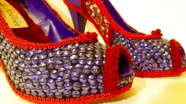 Vooss Atelier: Purple Explosion. Shoes by Vooss Atelier